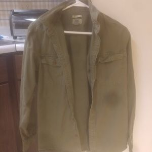 Military Green Button Up